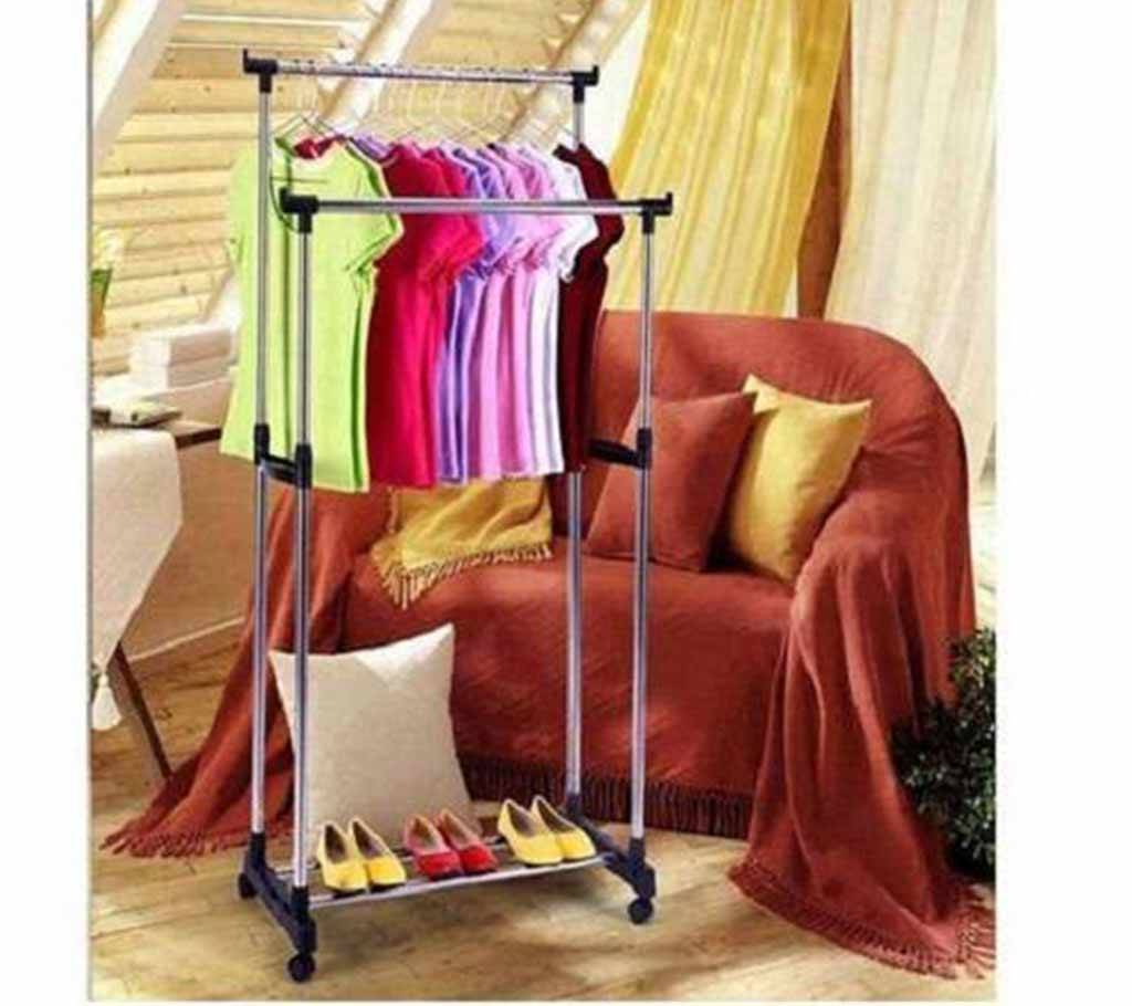 two layer cloths hanging stand