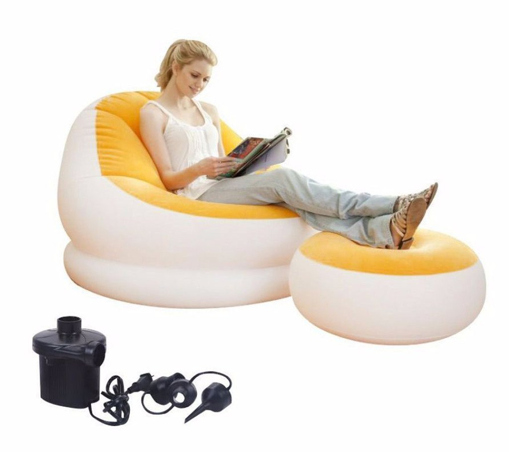 2 in 1 air sofa with pumper