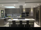 gray color lacquer finish good quality kitchen cabinet