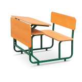 high quality double school desk with chair