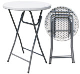 hot sales modern durable round samll plastic folding bar cocktail tables