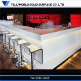 luxury modern fancy design u shape white commercial marble solid surface restaurant bar