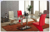modern dining table with temper glass
