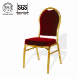 red aluminium hotel banquet chair